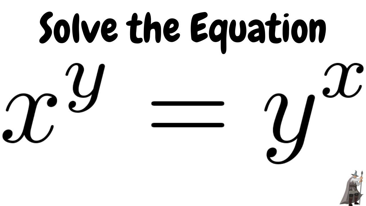 Solve The Equation X Y Y X Studying Math Math Genius Fun Math [ 720 x 1280 Pixel ]