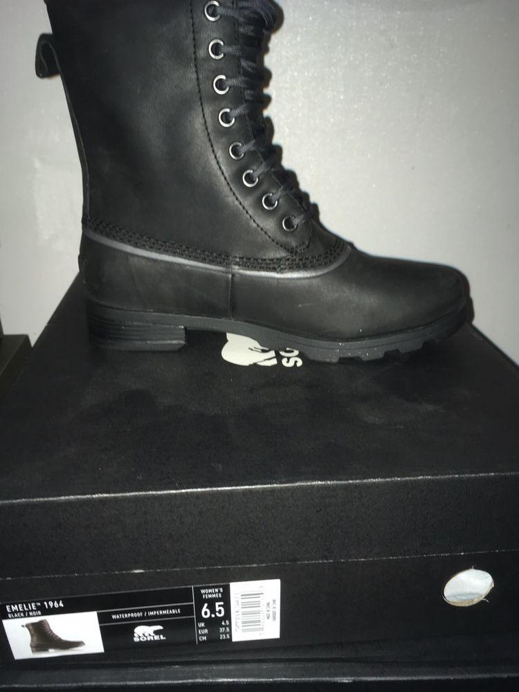 fadb40eb2c4 Sorel Emelie 1964 Boots In Black Size 6.5 #fashion #clothing #shoes ...