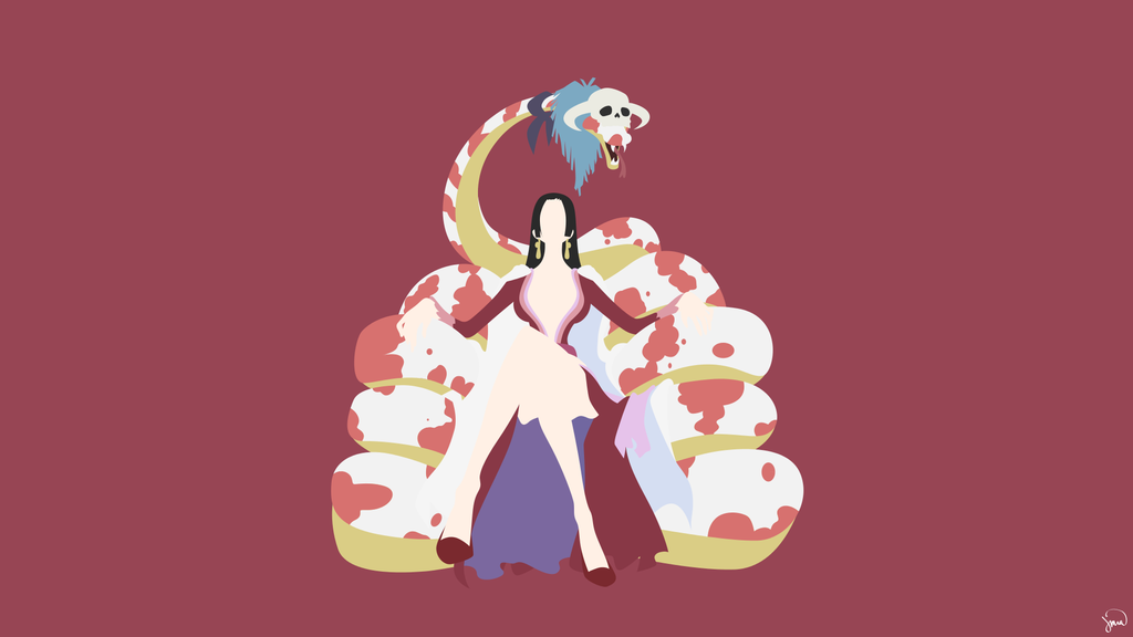 Boa Hancock (One Piece) Minimalist Wallpaper by