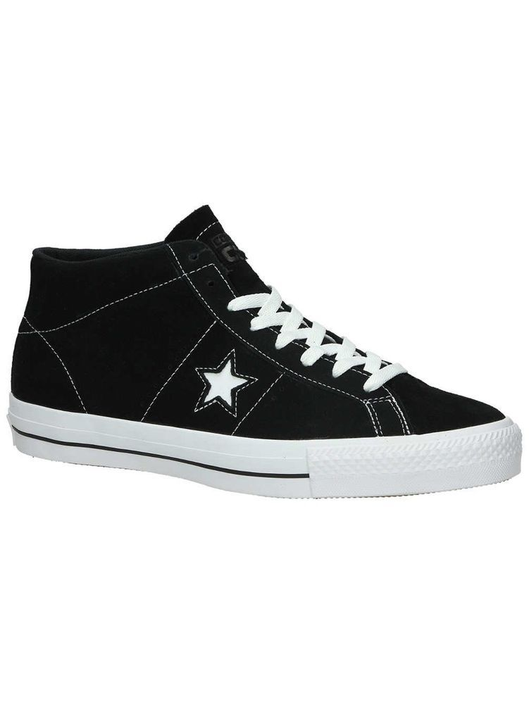 824ec191b61 ICYMI  Converse One Star Pro Suede Mid (Black White Black) Men s Skateboard  Shoes-9.5