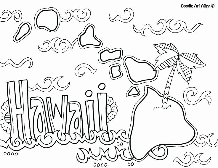 Hawaii Flag Coloring Page in 2020 Moon coloring pages