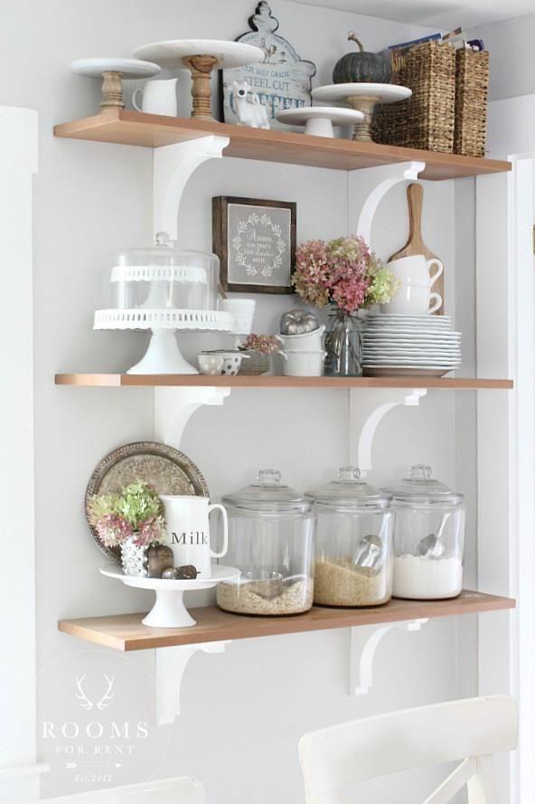 Kitchen Shelves Decorar Cozinha Decoracao Cozinha Decoracao