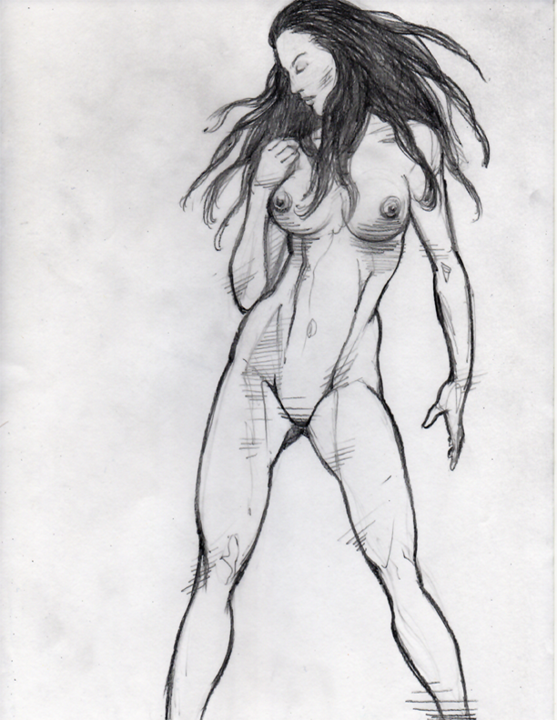 Female Anatomy Pencil Drawing Study #NSFW | Dennis Sweatt Comic Art ...