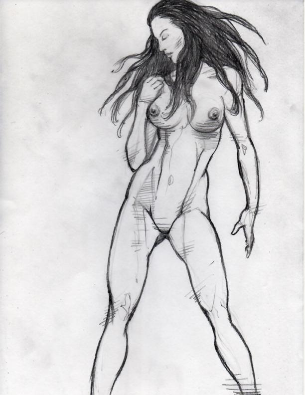 Female Anatomy Pencil Drawing Study Nsfw Dennis Sweatt Comic Art