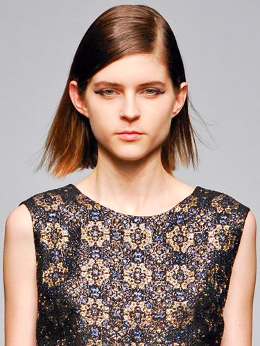 Winged Eyeliner - Rachel Comey Fall/Winter 2012 Runway Show