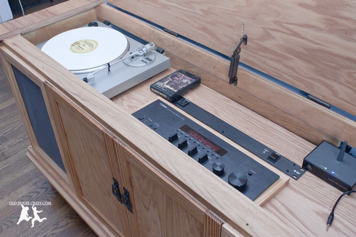 Rebuild And Modernize An Old Stereo Console Diy Stereo Console Vintage Stereo Console Vintage Stereo Cabinet