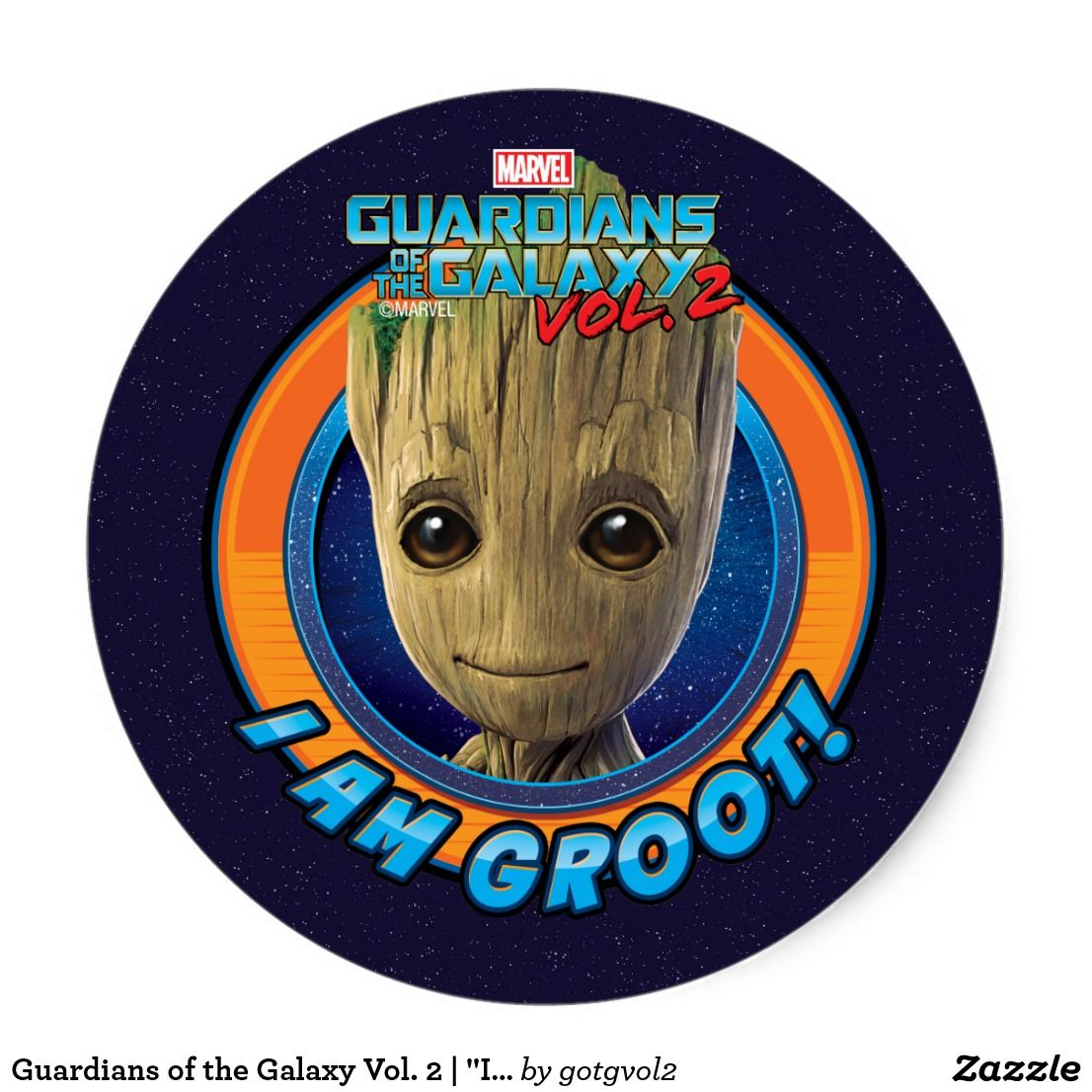 Guardians Of The Galaxy Vol 2 I Am Groot Disk Classic Round Sticker Special Guardians Of The Galaxy Gift Idea Guardians Of The Galaxy Galaxy Gifts Galaxy