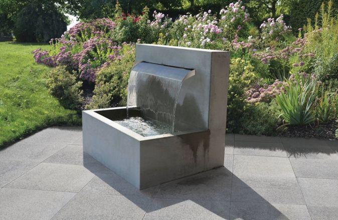 Wasserfall-Brunnen Brunnen Pinterest Wasserfall brunnen - wasserfall im garten modern