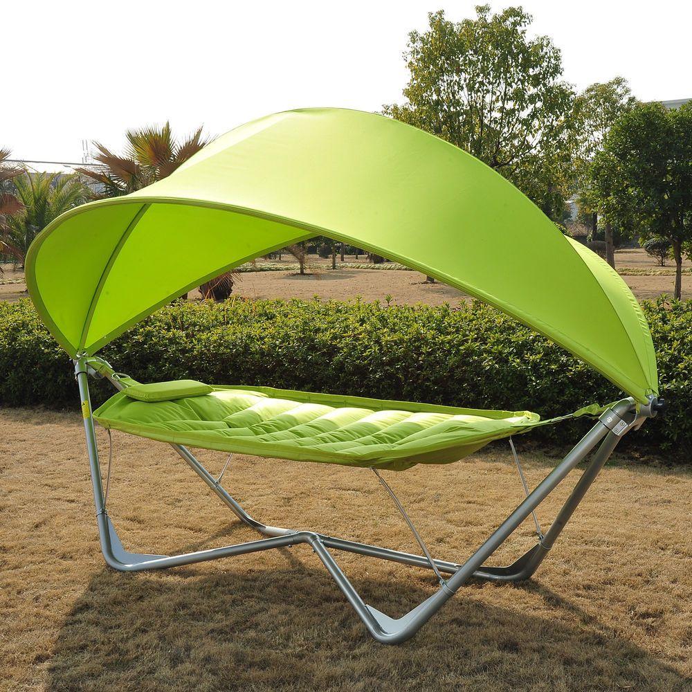 Outsunny outdoor garden camping hammock patio bed swing single w