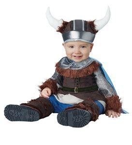 Lil Viking Infant Costume Zippered Jumpsuit With Belt InCharacter Toddler