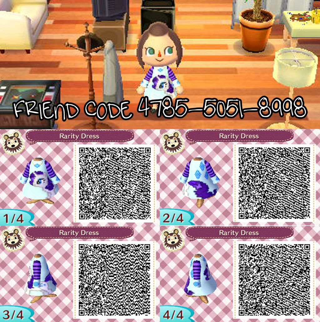Animal Crossing New Leaf Qr Code Rarity Dress By Emalee86  # Muebles Festivos Animal Crossing