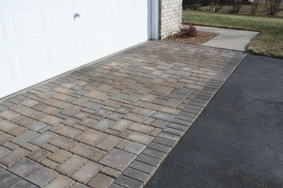 Sunken Driveway Repaired With Pavers Driveway Apron Driveway Outdoor Renovation