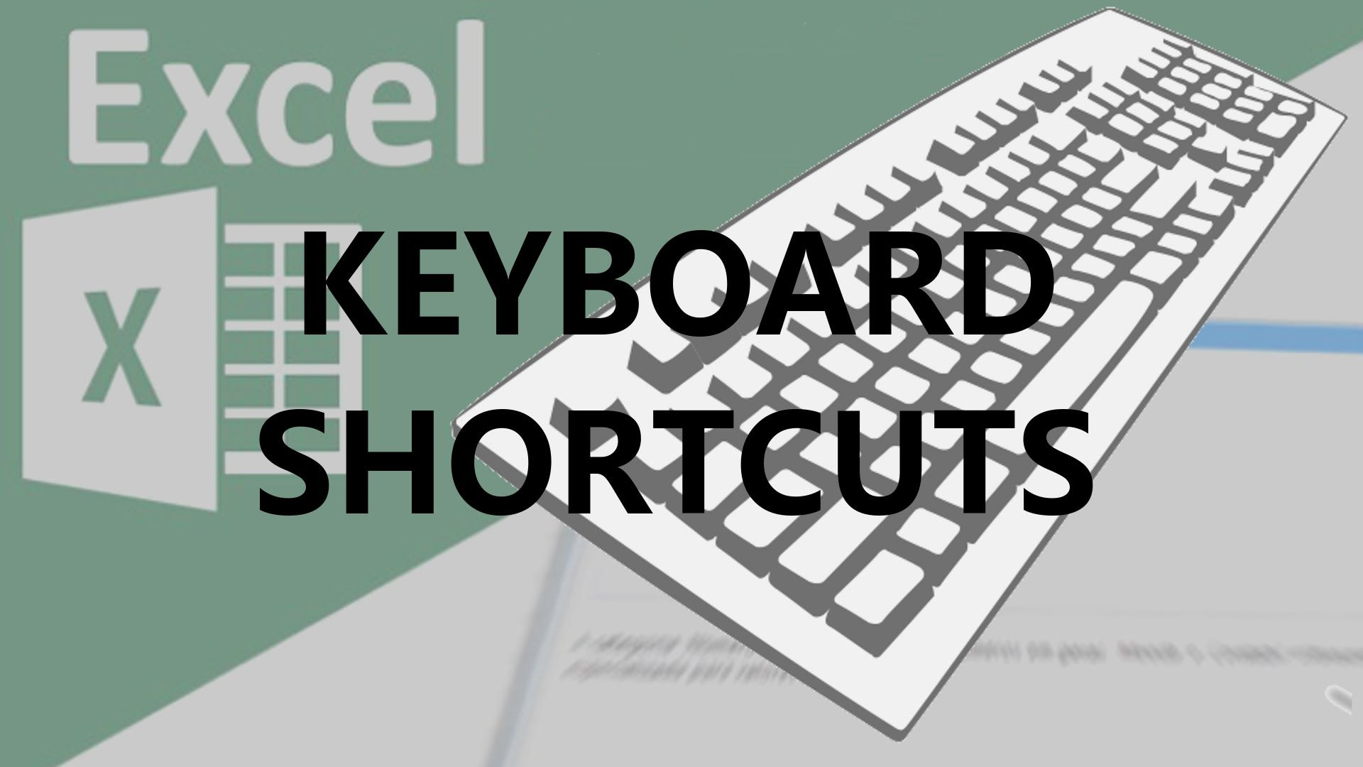 Excel Keyboard Shortcuts Basics