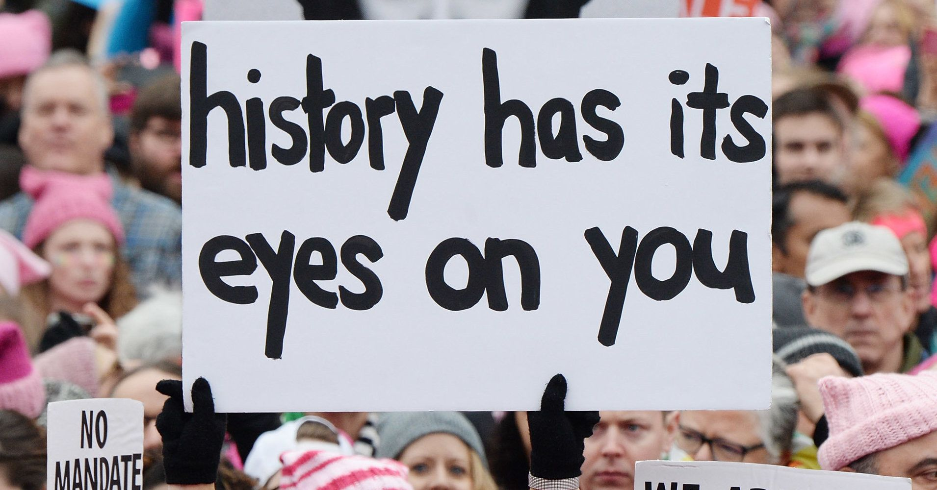 Protesters Are Using Hamilton Lyrics To Defend Rights Across The Country Protest Signs Power To The People Hamilton