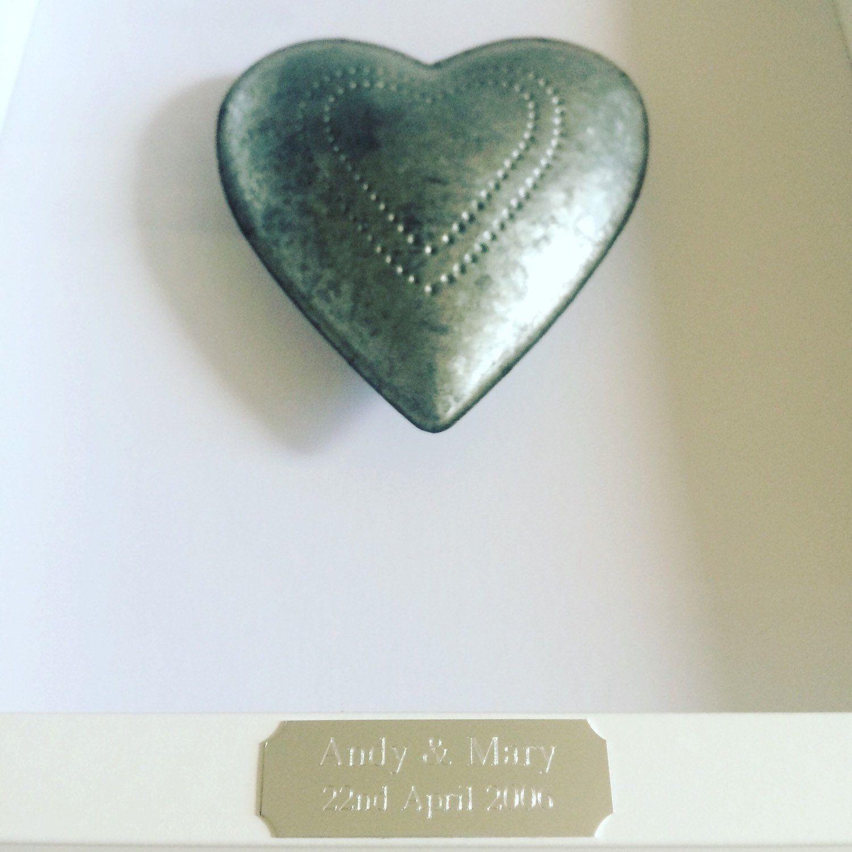 The perfect 10th Wedding Anniversary Memento 💝 tin heart