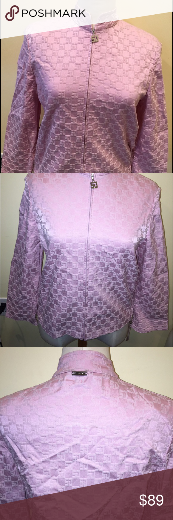 St. John Sport Logo Zip Jacket Timeless St. John long sleeve Zip Jacket in pink | matching bottoms sold separately but can be discounted when purchased as a bundle | I'm willing to negotiate price | size: small  retail price indicates total set St. John Jackets & Coats Jean Jackets