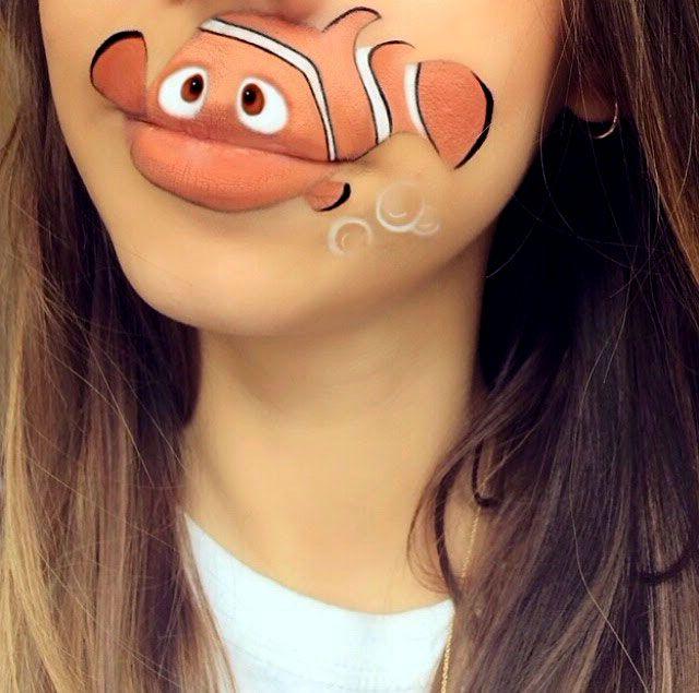 рыбка Немо, арт рисунки на лице | Красивые татуировки ...
