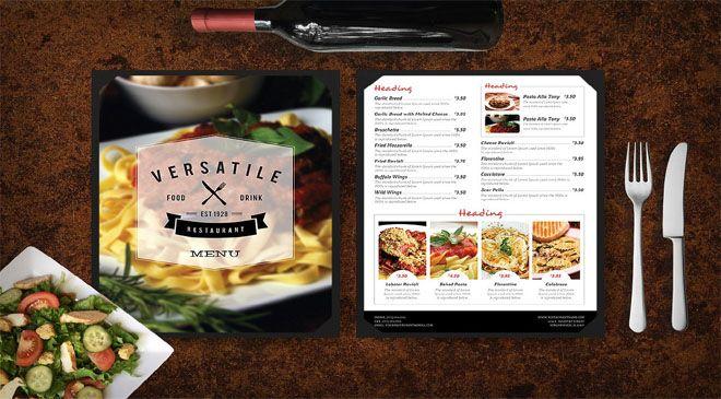 restaurant menu mockup mytemplatedesigns com pinterest mockup
