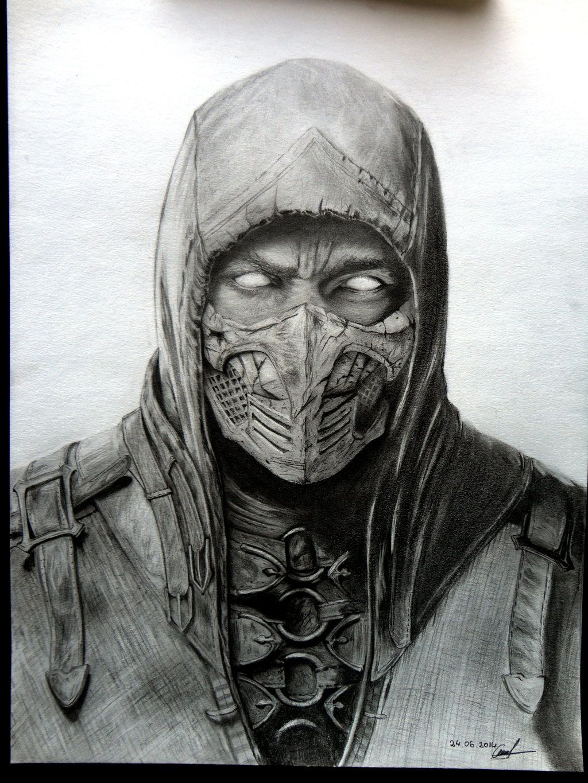 Scorpion By Lorandlee Mortalkombat Desenhos Realistas Desenhos