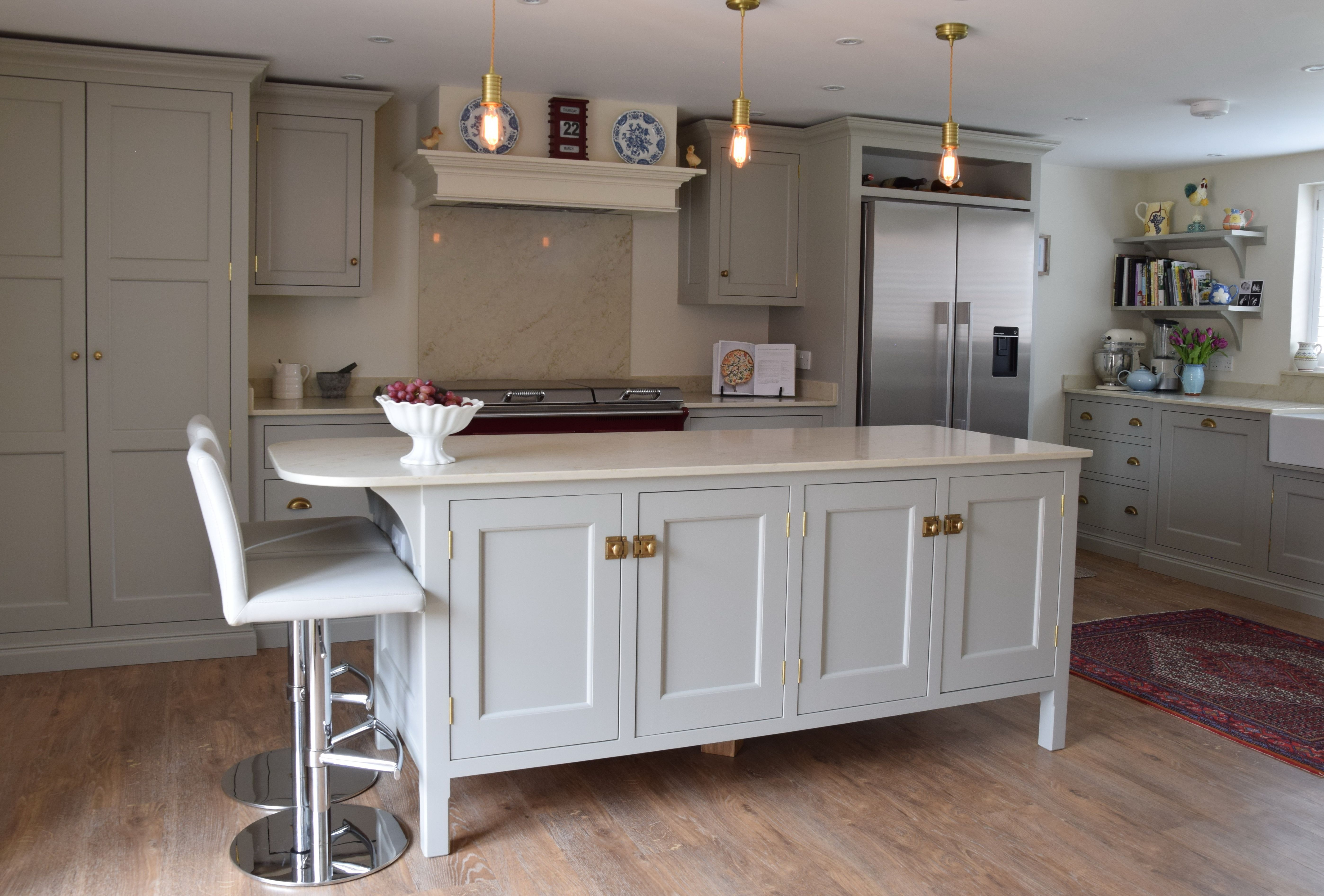 Guild Anderson Old Rectory Style Kitchen Cabinetry Is Painted In Farrow And Ball Hardwick Whit Kitchen Cabinet Design Kitchen Design Kitchen Cabinets Pictures