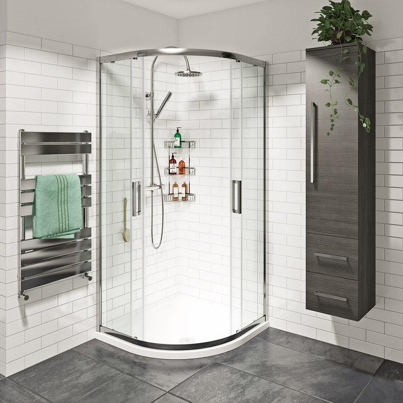 Mode Tate 8mm Easy Clean Sliding Door Quadrant Shower Enclosure