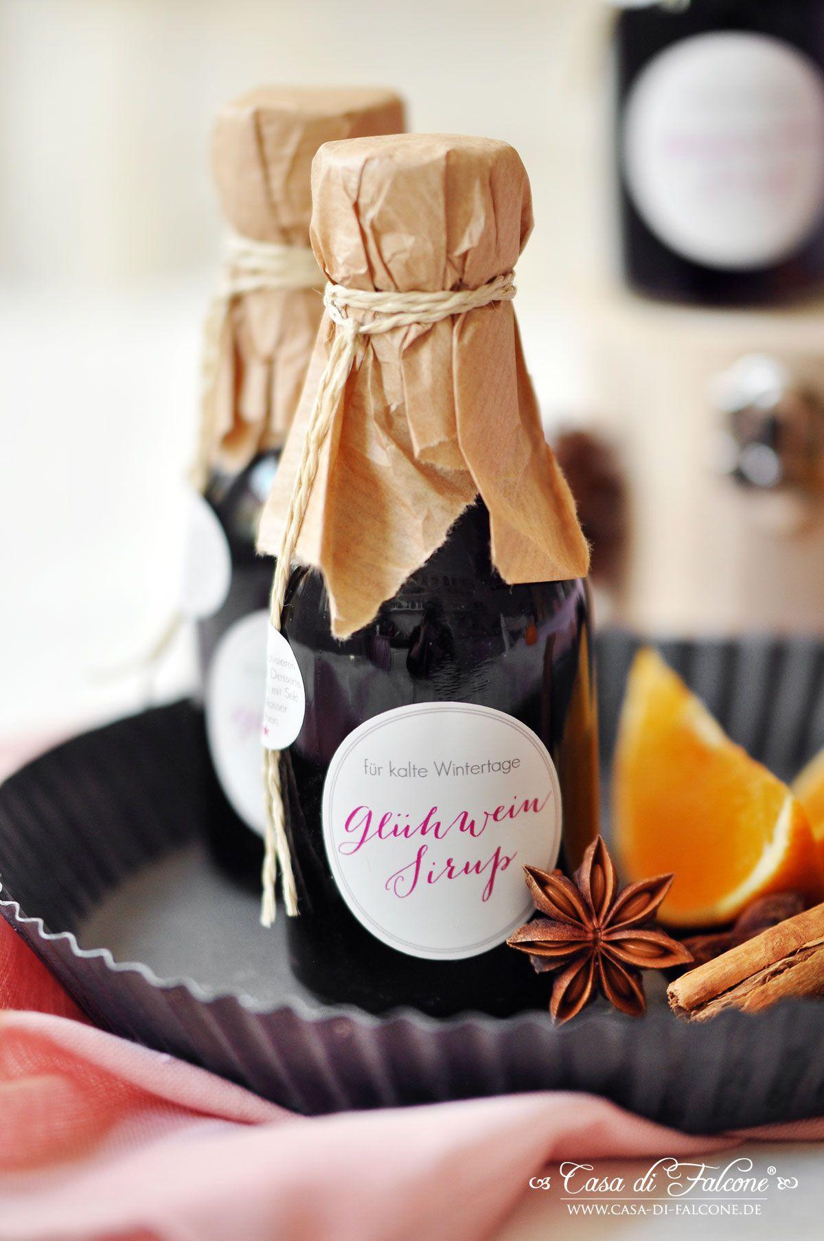 Glühweinsirup {Rezept} & Verpackungsidee | Holiday sweet ...