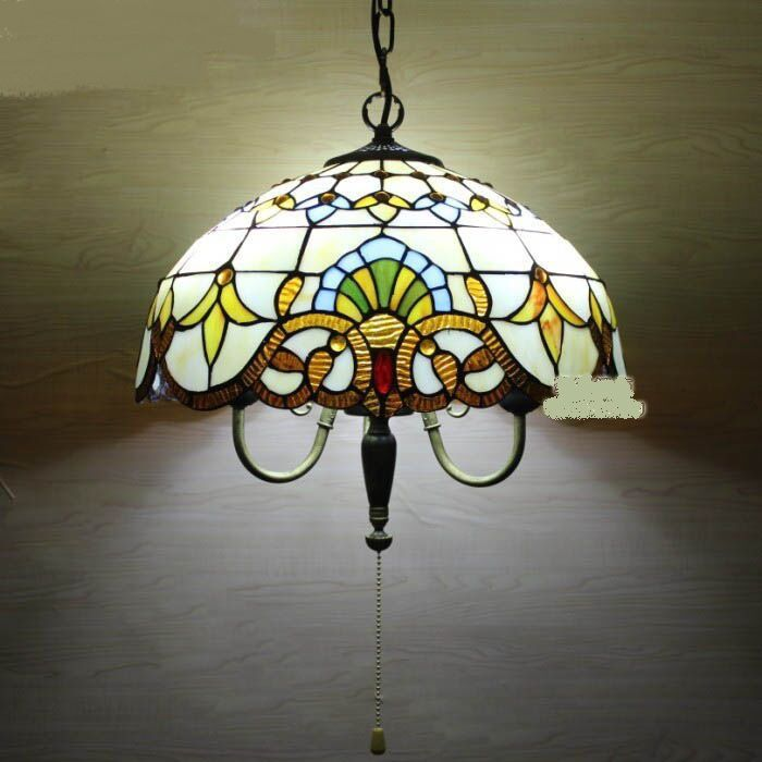Tiffany Style Beaded Dinner Pendant Lights Single Head Zipper Switch Dining  Room Bedroom Bar Personalized Pendant Lamps DF34 #Affiliate