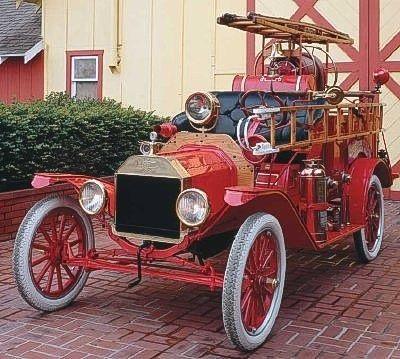 1914 Ford Model T Hook And Ladder Truck Vehicule Pompier Camion Pompier Pompier