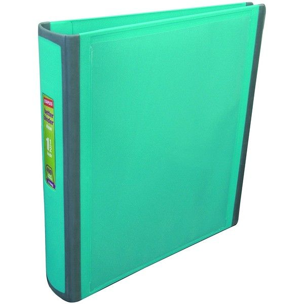 staples better 1 5 inch d 3 ring view binder teal 13468 cc 12