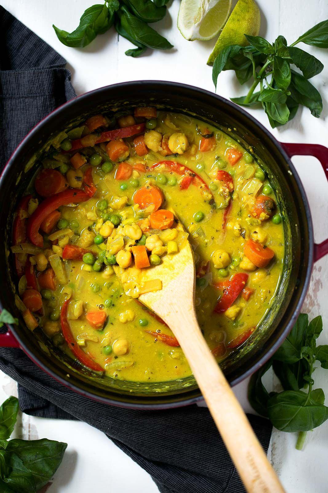 Healing Lemongrass Chickpea Thai Green Curry
