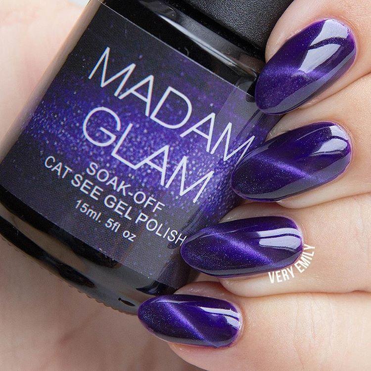 Madam Glam Gel - Flying Purple - Cat Eye Look