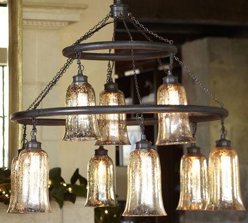 Brantley Antique Mercury Glass Chandelier Dream Home