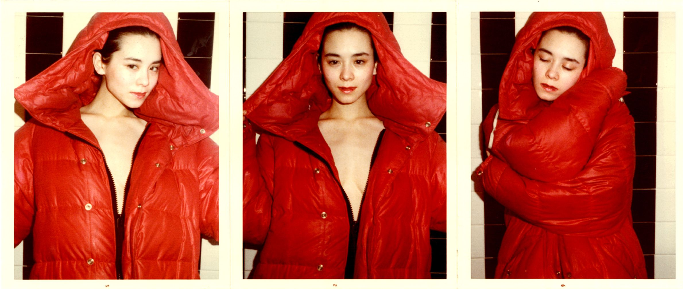 Red Coat Series Tina Chow By Antonio Lopez With Images Lady