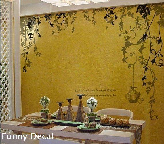 Vine Vinyl Wall Decal Tree