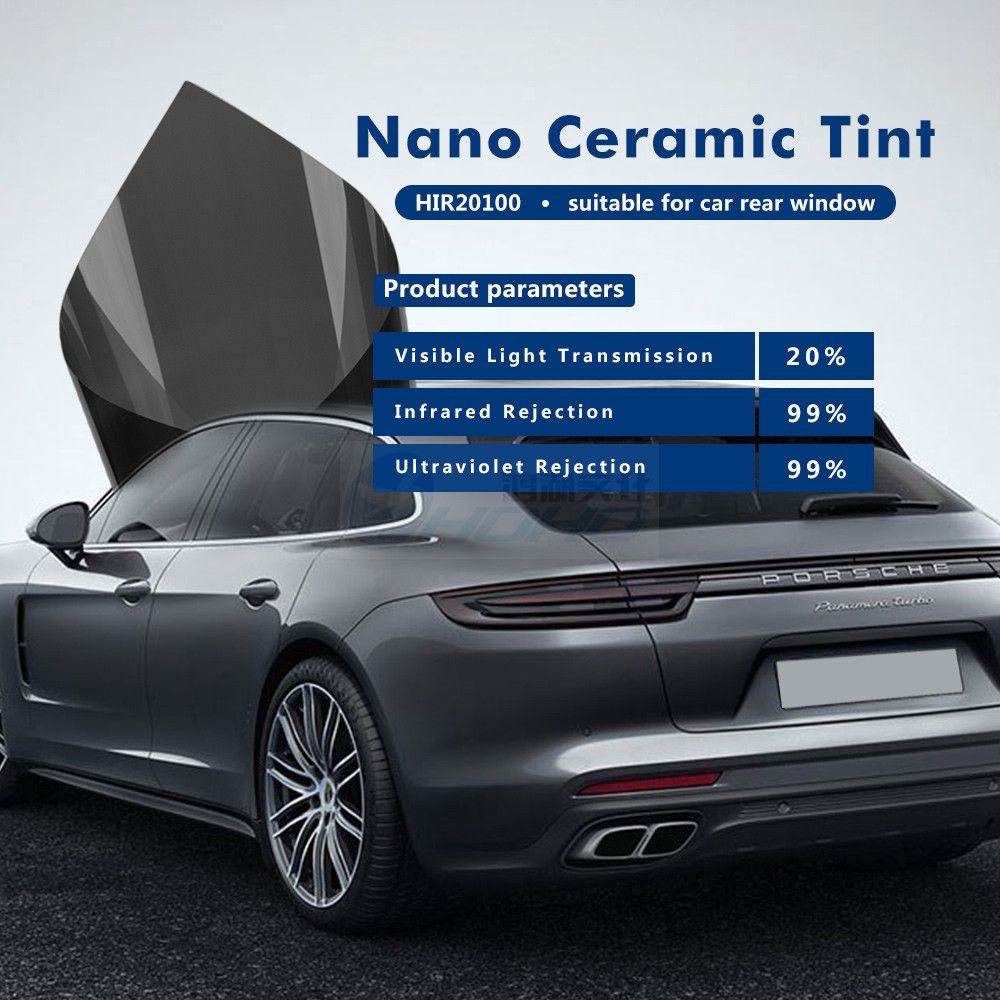 Dark Grey Car Window Tint Film 20 Light Transmittance 99