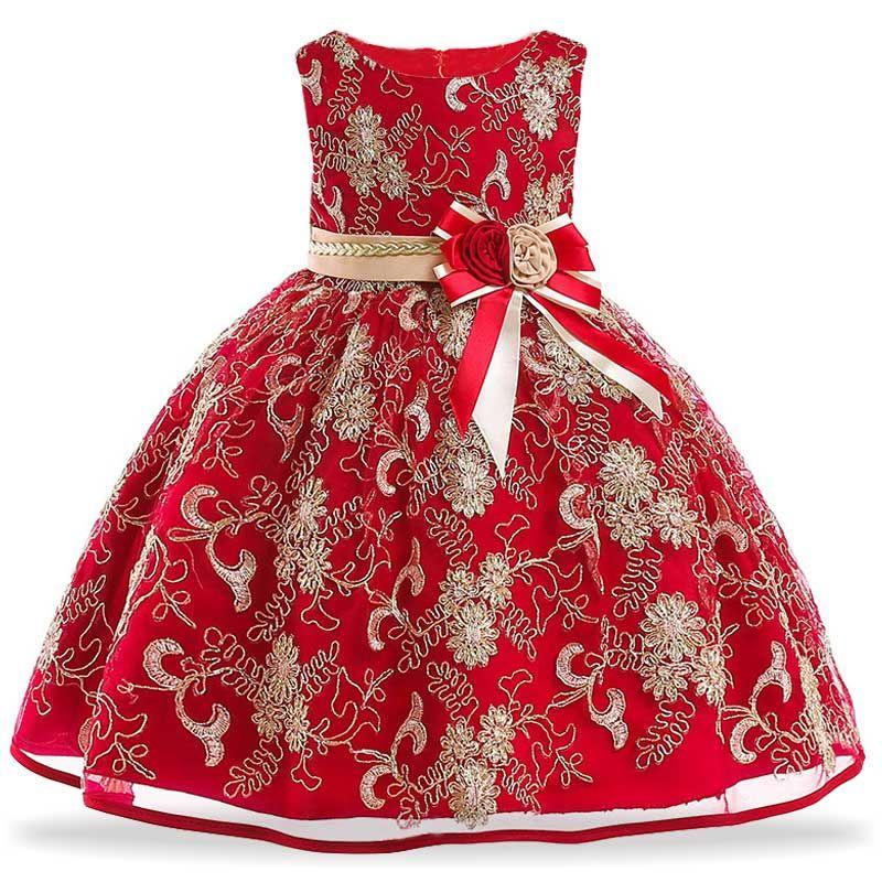 Elegant Girls Lace Princess Dress Kids Party Dresses For Girls Wedding  Dress Children Christmas Dress For Girls New Year Costume dd8f339d465c
