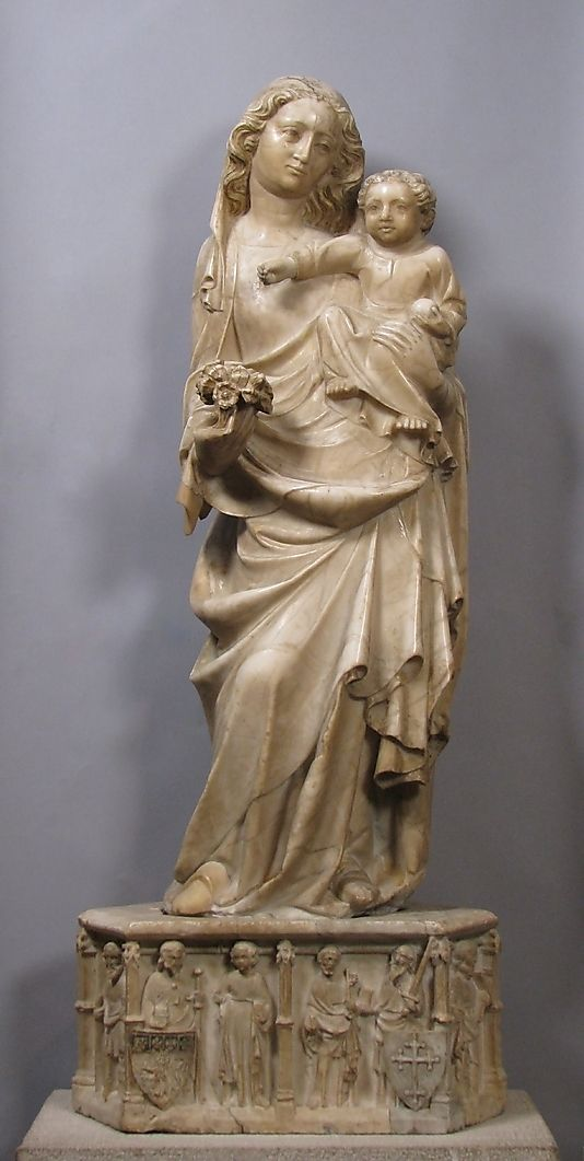 Standing Virgin and Child with Pedestal (14th century, Metropolitan Museum of Art, New York)