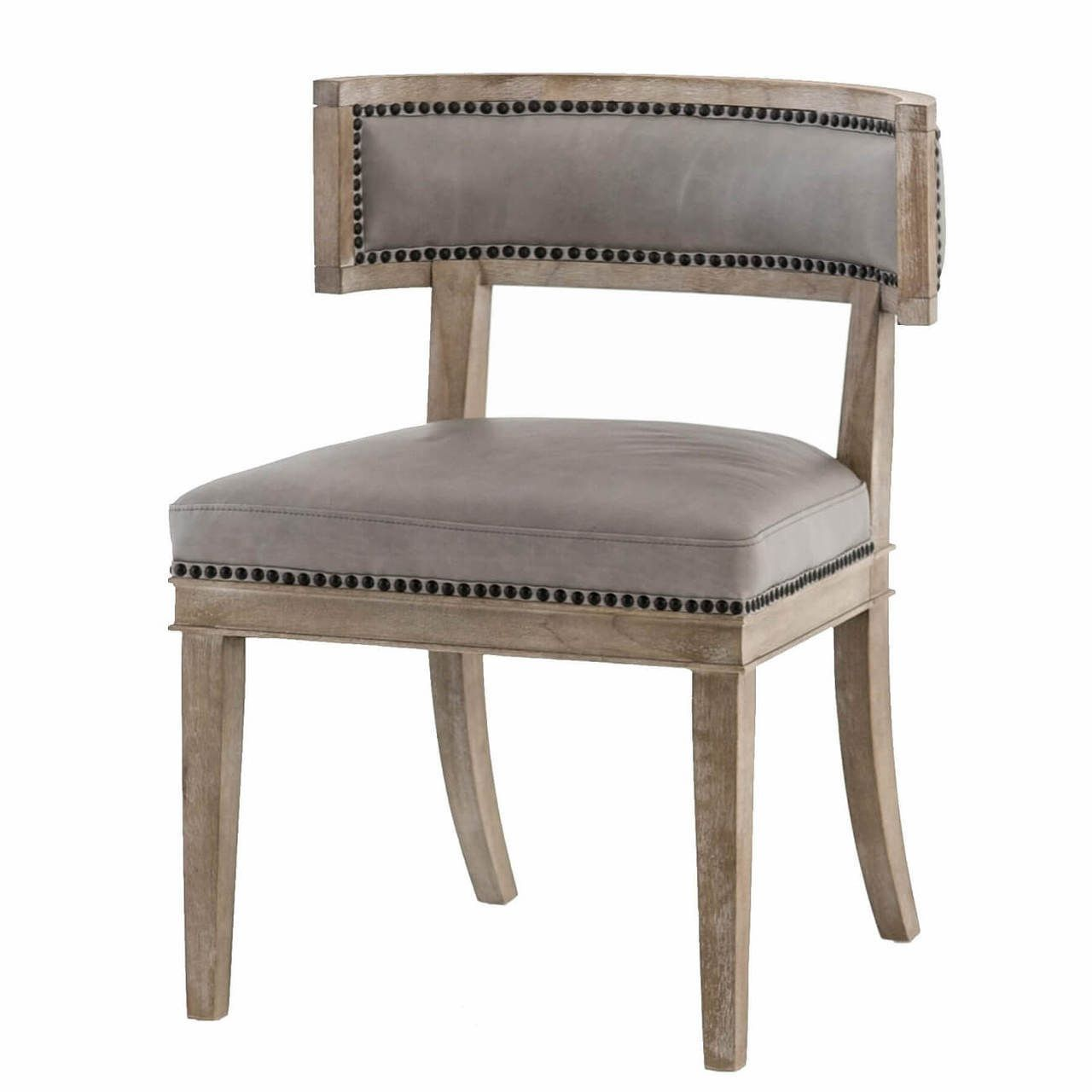 carter curved grey leather dining chair. carter curved grey leather dining chair  dining chairs modern