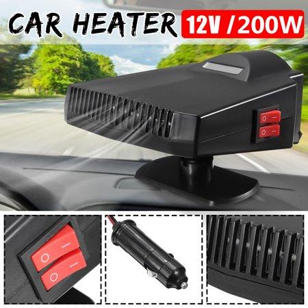 200W Car Auto Heater Heating 2 in 1 Fan Windscreen Windshield Demister Defroster