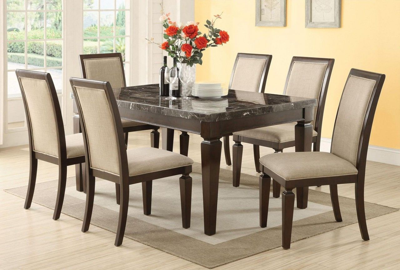 Marble Dining Room Table Sets  Dining Room Table Sets  Pinterest Simple Marble Dining Room 2018