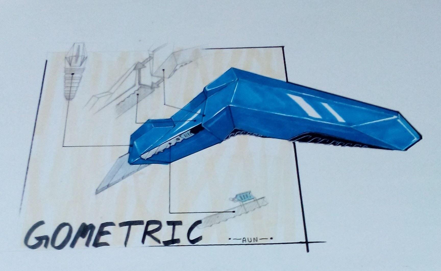 Geometric Cutter. Product Sketch Design.
