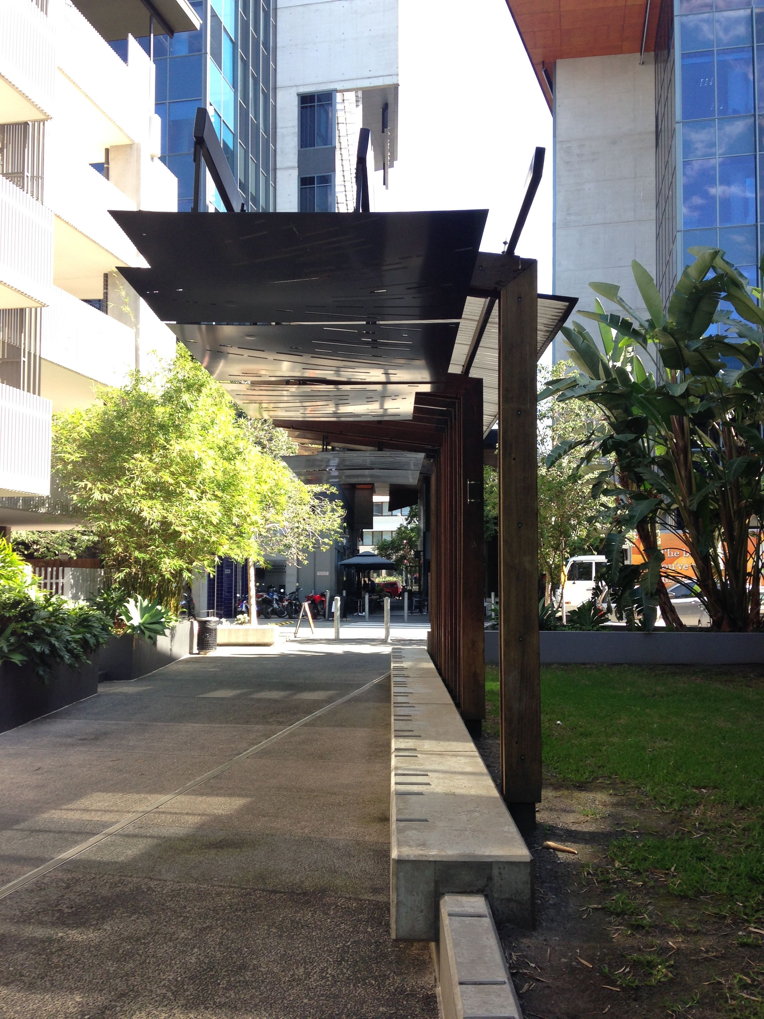 Public Canopies offer shelter and overhead protection in a