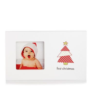 Take a look at this White & Red \'First Christmas\' Frame by Pearhead ...
