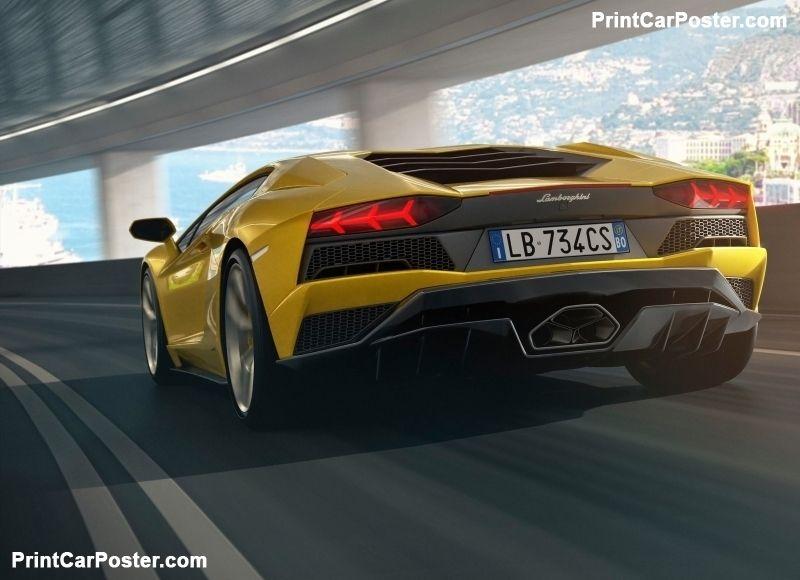 Lamborghini Aventador S 2017 Poster Walker Lamborghini Aventador
