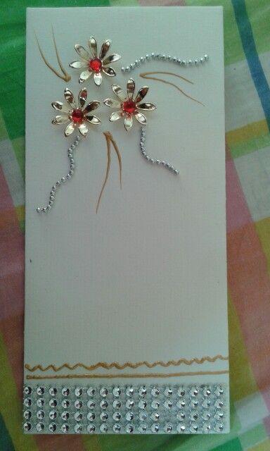 decorative envelope of metallic wrk