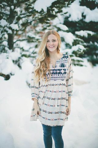 The Embroidered Aztec Tunic