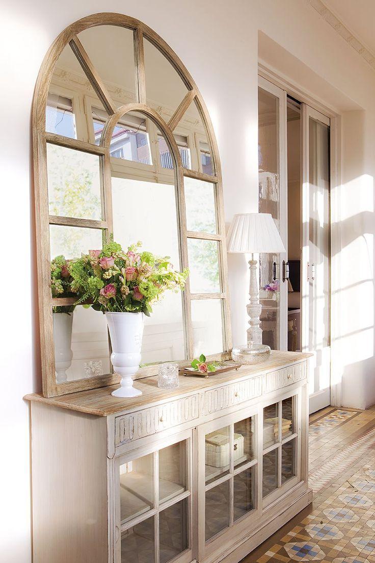 Mueble De Entrada Consola Madera Como Decorar Un Recibidor  # Muebles Pequenos De Madera