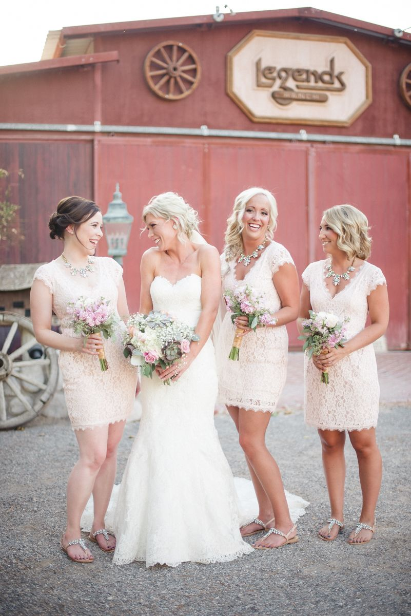 Rustic wedding legends ranch las vegas wedding boho bridesmaids ...