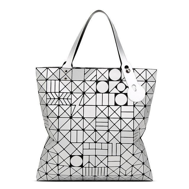 783c9484c252 Style Women Bag tote Big Geometric Issey Miyak Bag Luxury Brand Designer