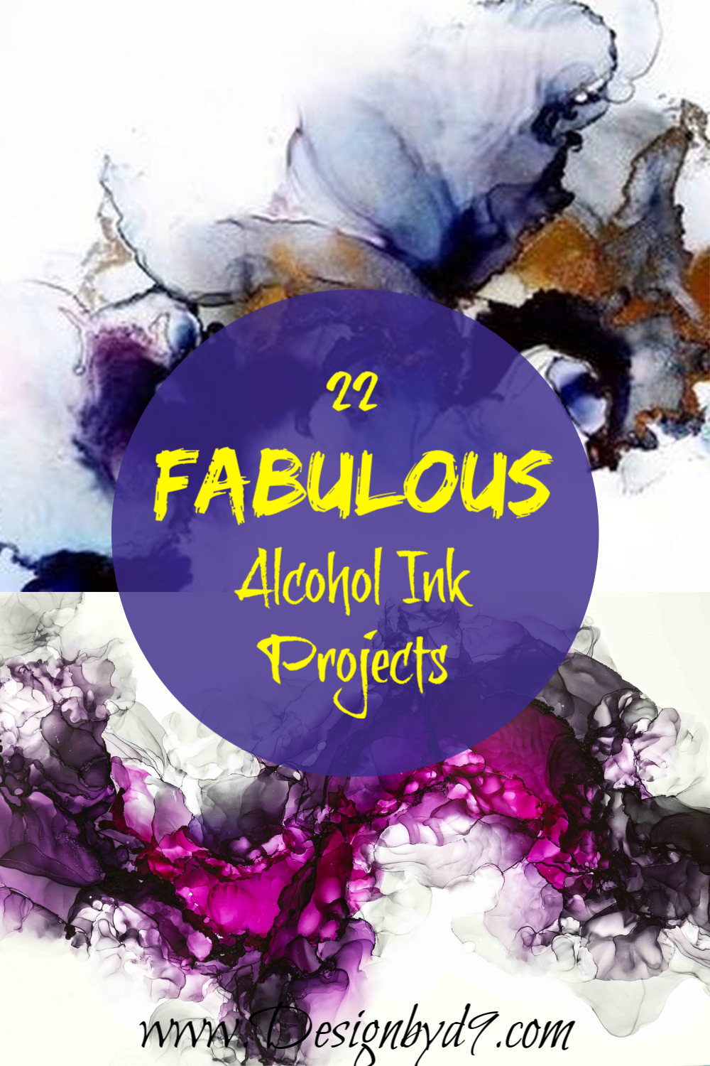 Alcohol Ink can give you patterns and designs that you can't get from other mediums. Whether you are using it on Yupo, glass, ceramic it always delivers an amazing finish.